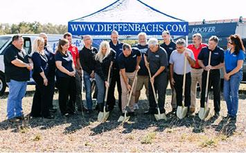 Breaking ground on new facility.